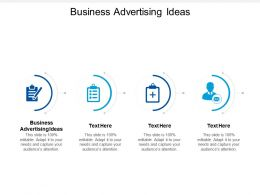 Business Advertising Ideas Ppt Powerpoint Presentation Show Design Ideas Cpb