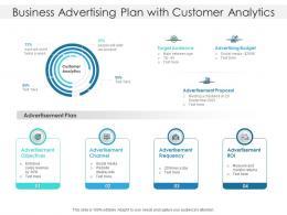 Business Advertising Plan With Customer Analytics