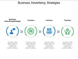 Business Advertising Strategies Ppt Powerpoint Presentation File Design Inspiration Cpb