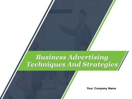Business Advertising Techniques And Strategies Powerpoint Presentation Slides