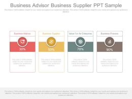Business Advisor Business Supplier Ppt Sample