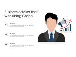 Business Advisor Icon With Rising Graph