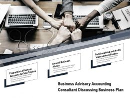 Business Advisory Accounting Consultant Discussing Business Plan