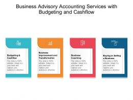 Business Advisory Accounting Services With Budgeting And Cashflow