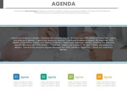 Business Agenda Chart For Company Powerpoint Slides