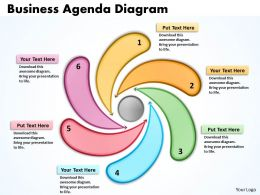 Business Agenda Diagrams Powerpoint templates 5