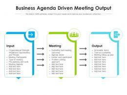 Business Agenda Driven Meeting Output