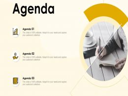 Business Agenda Layout with Three Points