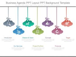 Business Agenda Ppt Layout Ppt Background Template