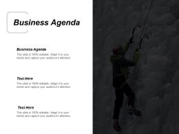 Business Agenda Ppt Powerpoint Presentation Infographic Template Graphics Download Cpb