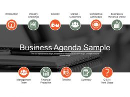 Business Agenda Sample Ppt Background Designs