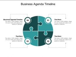 Business Agenda Timeline Ppt Powerpoint Presentation Outline Backgrounds Cpb