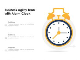 Business Agility Icon With Alarm Clock