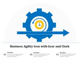 Business Agility Icon With Gear And Clock