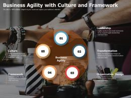 Business Agility With Culture And Framework