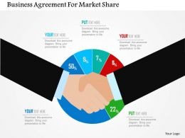 Business Agreement For Market Share Flat Powerpoint Design