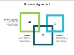 Business Agreement Ppt Powerpoint Presentation Pictures Slide Cpb