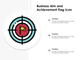Business Aim And Achievement Flag Icon