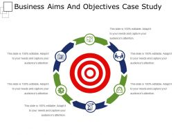 Business Aims And Objectives Case Study Powerpoint Layout