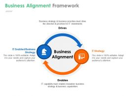 Business Alignment Framework Powerpoint Slide Deck