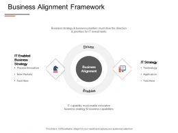Business Alignment Framework Technology Strategy Ppt Powerpoint Presentation Show Deck