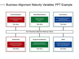 Business Alignment Maturity Variables Ppt Example