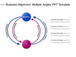 Business Alignment Multiple Angles Ppt Template