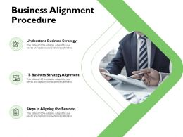 Business Alignment Procedure Agenda Ppt Powerpoint Presentation Pictures Guide