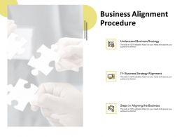 Business Alignment Procedure Strategy Technology Ppt Powerpoint Presentation Layouts Styles
