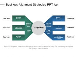 Business Alignment Strategies Ppt Icon
