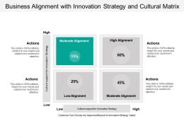 Business Alignment With Innovation Strategy And Cultural Matrix