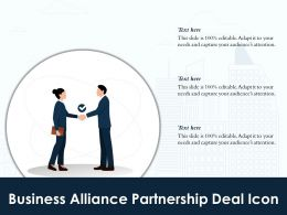 Business Alliance Partnership Deal Icon