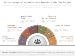 Business Analysis Communication Plan Powerpoint Slide Deck Samples