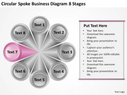 Business Analysis Diagrams 8 Stages Powerpoint Templates PPT Backgrounds For Slides