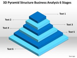 Business Analysis Diagrams Illustration Of 6 Layers Stacked Structure Powerpoint Slides