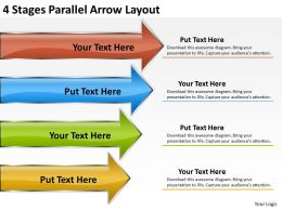 Business Analysis Diagrams Parallel Arrow Layout Powerpoint Templates PPT Backgrounds For Slides