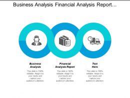 Business Analysis Financial Analysis Report Marketing Communications Warehouse Management Cpb