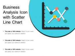Business Analysis Icon With Scatter Line Chart