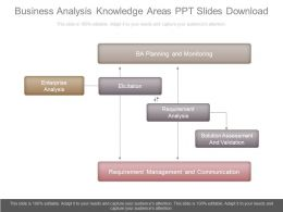 Business Analysis Knowledge Areas Ppt Slides Download