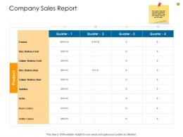 Business Analysis Methodology Company Sales Report Ppt Infographics Structure