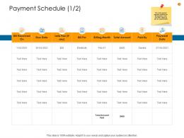 Business Analysis Methodology Payment Schedule Payment Ppt Infographic Template Design Inspiration