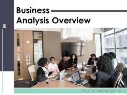 Business Analysis Overview Powerpoint Presentation Slides
