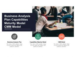 Business Analysis Plan Capabilities Maturity Model Cmm Model Cpb