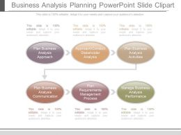 Business Analysis Planning Powerpoint Slide Clipart