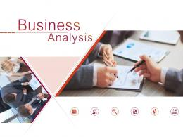 Business Analysis Powerpoint Presentation Slides