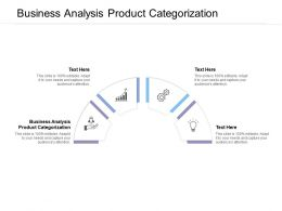 Business Analysis Product Categorization Ppt Powerpoint Presentation Summary Graphics Cpb