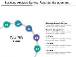 Business Analysis Service Records Management Automatically Deploy Software