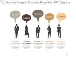 Business Analysis Silhouettes Powerpoint Ppt Diagrams
