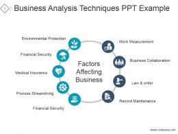 Business Analysis Techniques Ppt Example