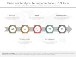 Business Analysis To Implementation Ppt Icon